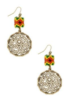 Cato Fashions Aztec Wheel Earrings #CatoFashions
