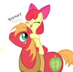 Apple Bloom and Big Mac Eeyup! Big Brother Little Sister, Little Sisters, Big Macintosh, My Little Pony Games, Baby Pony, My Little Pony Pictures, Princess Luna, My Little Pony Friendship, Rainbow Dash