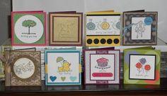 Krafty Klemo: Easy Events Set Sampler. 3x3 cards.