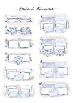 Aprenda a organizar os travesseiros da sua cama de casal