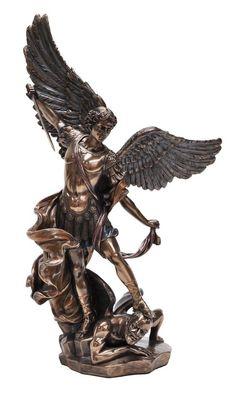 Saint Michael & Sword Archangel Cast Bronze Figure Classical Statue Sculpture