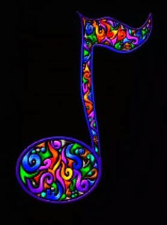 - Colorful Music Note - #music #symbols #musicnote http://www.pinterest.com/TheHitman14/music-symbols-%2B/