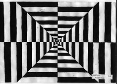 black and white simple optical illusions - Google Search