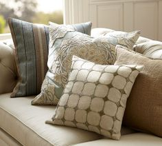 Dot Beaded Pillow Cover from Pottery Barn.