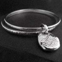 LWSilver - Nugget Bangle, Silver Nugget Bangle, Silver Bangle Wirral, Silver Bangle Liverpool #jewellery #lwsilver #bangle #handmade