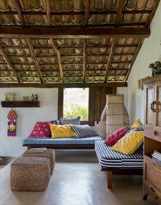 Una villa rústica en Brasil frente al mar