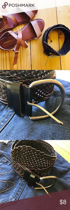 Genuine Leather Braided Belt Target Genuine leather belt. Braided style. Dark mocha brown. So cute . Size Large. Perfect bundle piece 💕 xo target Accessories Belts