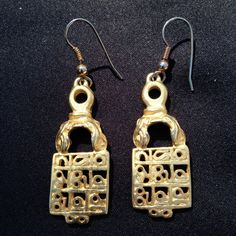 Egyptian Earrings from the King Tut Exhibit by happytrailsmichelle