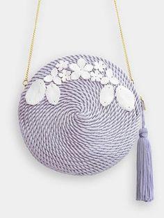 Resultado de imagen de bolsos hechos con cordon de seda