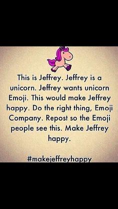 Jeffrey The Unicorn.                             #MakeHimAEmoji #Jeffery#Emoji