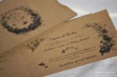 Rustikt Inbjudningskort till Lantligt Bröllop