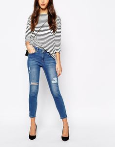 Image 1 ofOasis Isabella Ripped Skinny Jean