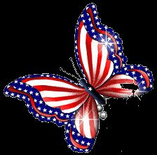 USA of July animated alphabet butterfly red white blue patriotic alphabet animated Schmetterling Butterfly Clip Art, Butterfly Drawing, Butterfly Wallpaper, Blue Butterfly, Fourth Of July, 4th Of July Wreath, Patriotic Pictures, Flag Art, Red White Blue