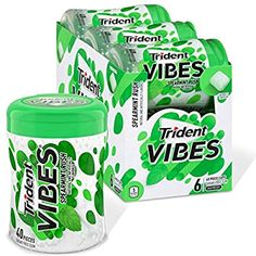 Amazon.com : Trident Vibes Spearmint Rush Sugar Free Gum, 6 Bottles of 40 Pieces (240 Total Pieces) : Grocery & Gourmet Food Apple And Almond Cake, Almond Cakes, Best Oatmeal Cookies, Braised Cabbage, Sugar Free Gum, Weight Watchers Desserts, Chewing Gum, Trident, Recipes