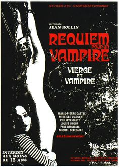 Requiem for a Vampire (1971) Horror Movie Posters, Cinema Posters, Film Posters, Sci Fi Horror, Horror Films, Vampires, October Movies, Creepy Circus, Circus Clown