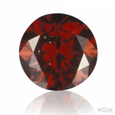 Synthetic red diamond, treated color, 0.55 ct.