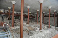 Restos arqueológicos encontrados bajo el Alcázar de Toledo durante las obras realizadas para trasladar el nuevo museo. | Museo del Ejército.