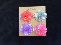 This spring mini satin mesh flower hair clip set would make the perfect baby shower gift to match those adorable spring outfits!