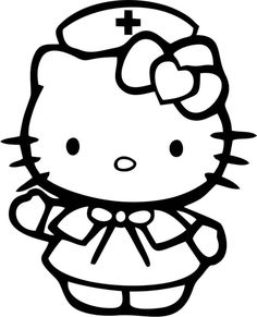 Show the world how cute of a nurse you are with this Hello Kitty - Nurse decal. Laptop Decal Stickers, Bumper Stickers, Window Stickers, Hello Kitty Colouring Pages, Coloring Books, Coloring Pages, Nurse Decals, Hello Kitty Tattoos, Image Deco
