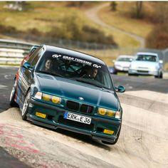 BMW E36 M3 green