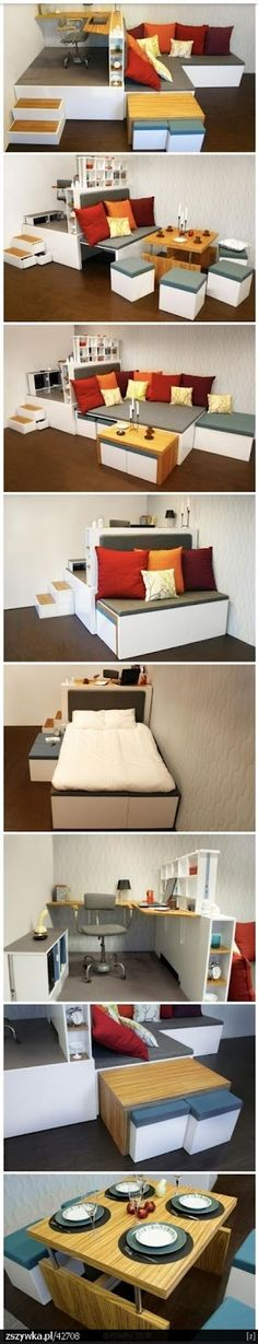 sofa, bed, table - all in one