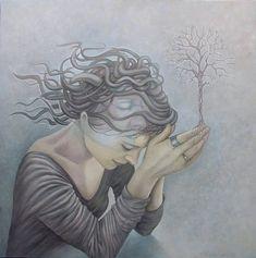 """Izabela Krzyszkowska Malarstwo i Wnętrza: """"Sound of Silence"""" Portrety Magiczne Izabeli Krzys..."""