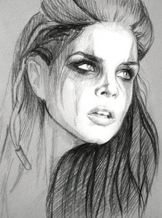 Octavia Blake (Quick sketch) by Hobby-tribut  | First pinned to Celebrity Art board here... http://www.pinterest.com/fairbanksgrafix/celebrity-art/ #Drawing #Art #CelebrityArt.