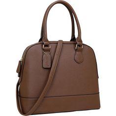 16f0f0d6d033 Dasein Faux Leather Dome Zip-Around Satchel Stylish Handbags