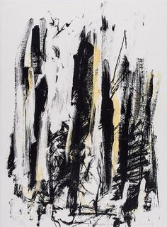 View Abres Black and Yellow by Joan Mitchell on artnet. Browse upcoming and past auction lots by Joan Mitchell. Joan Mitchell, Georges Pompidou, Art Tribal, Robert Motherwell, Art Moderne, Still Life Photography, Wedding Photography, Abstract Landscape, Black White