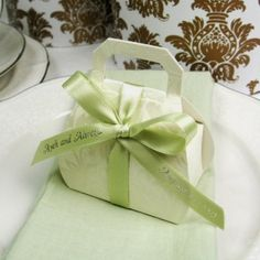 Embossed Favor Bag with Handle