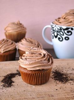 Coffee Cupcakes With Mocha Buttercream Frosting | A Cookie Named Desire