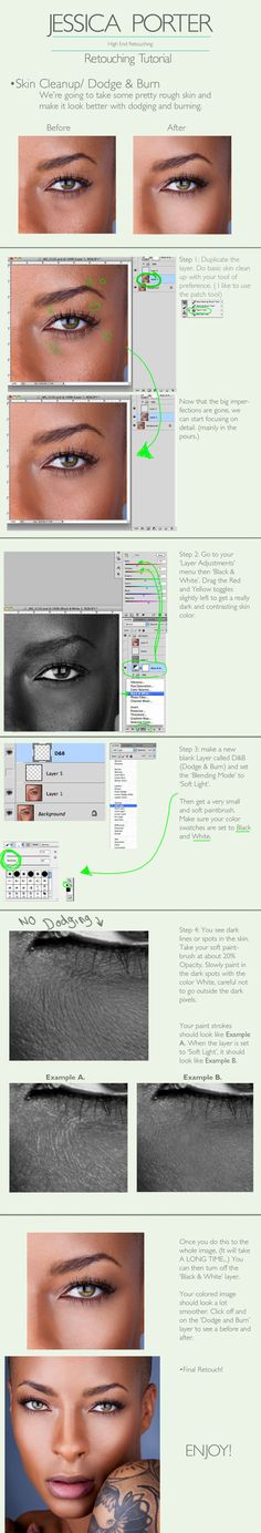 Advanced Skin Retouching Tutorial by ~PorterRetouching on deviantART