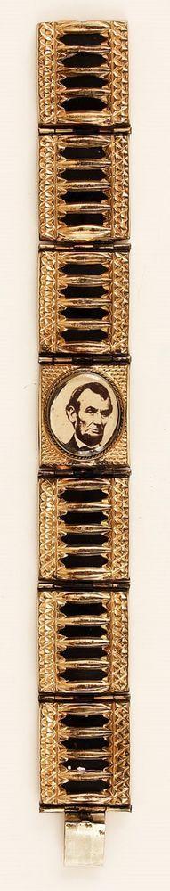 Abraham Lincoln Handcrafted Mourning Bracelet