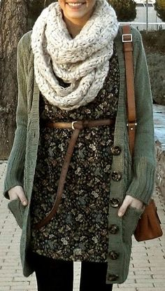 Fall Floral & Infinity Scarf...a little bit more length and perfect!