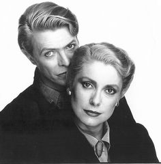 Catherine Deneuve, David Bowie (promotional photo for The Hunger, Tony Scott, 1983) Though I liked the book better.
