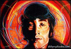 John Lennon Beatles painting rock & roll artwork -- Imagine