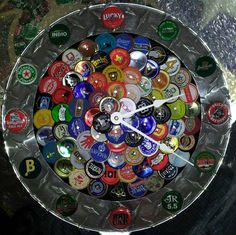 beer thirty bottle cap art clock Check us out on facebook/madcapcreations!