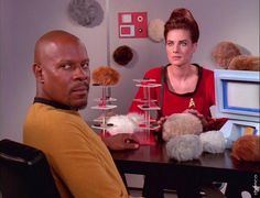 Captain Sisko and Jadzia Dax in the past. (Star Trek: Deep Space Nine)