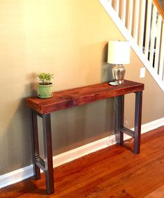 "Reclaimed Wood Console Table - ""Winter Street"""