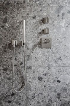 terrazzo: {Friday Feature: Belgian firm Contekst} HH is on P. Cheap Wall Decor, Cheap Home Decor, Terrazo, Shower Taps, Shower Valve, Terrazzo Tile, Tadelakt, Bathroom Toilets, Lowes Bathroom