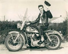 Elvis mr cool ... On Harley in Memphis, late-February or early-March 1956