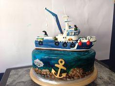 Tarta barco pesquero