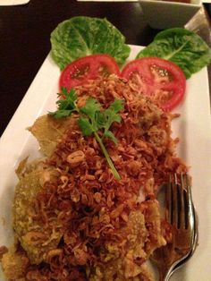 AzuThai Fried Chicken with Crispy Shallots. Perfect for lunch