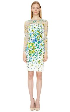 White Printed Dress by Versace Now Available on Moda Operandi