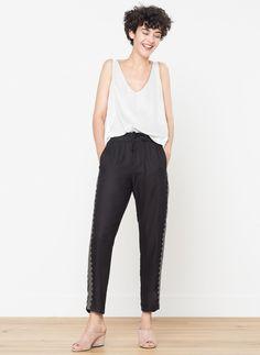 Diamanté jogging trousers - Trousers - Ready to wear - Uterqüe France