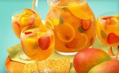 Sparkling Mango Strawberry Sangria - Hispanic Kitchen