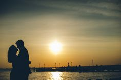 Sunset engagement session in Red Hook with NYC wedding photographer Ben Lau.