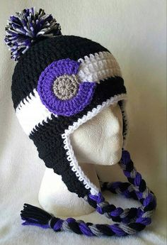 Colorado Rockies Earflap Beanie - Crochet