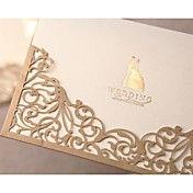 lindo laço convite de casamento recorte