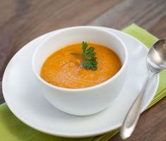 Chantenary Carrot Soup | The gorgeous, bright-orange color of this soup is reason enough to get out your carrot peeler and stir up a pot. The flavors of the spices and carrots blend together perfectly, leaving the soup just sweet enough.
